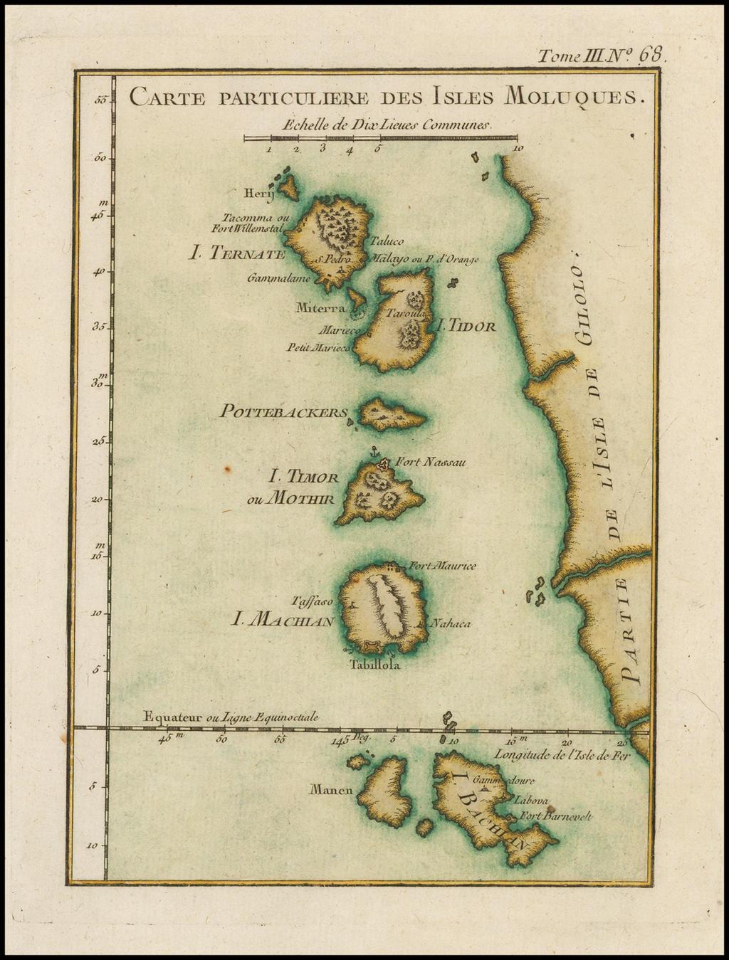 Carte Particuliere Des Isles Moluques By Jacques Nicolas Bellin