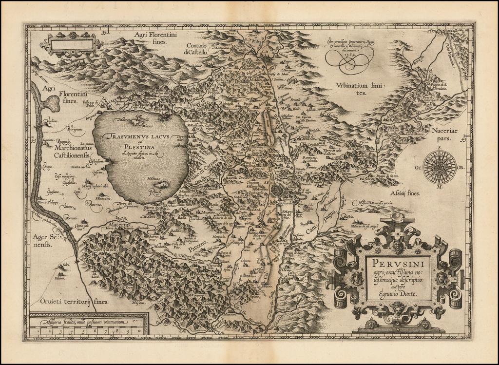 Perusini agri exactissima novissimaque descriptio auctore Egnatio Dante By Abraham Ortelius