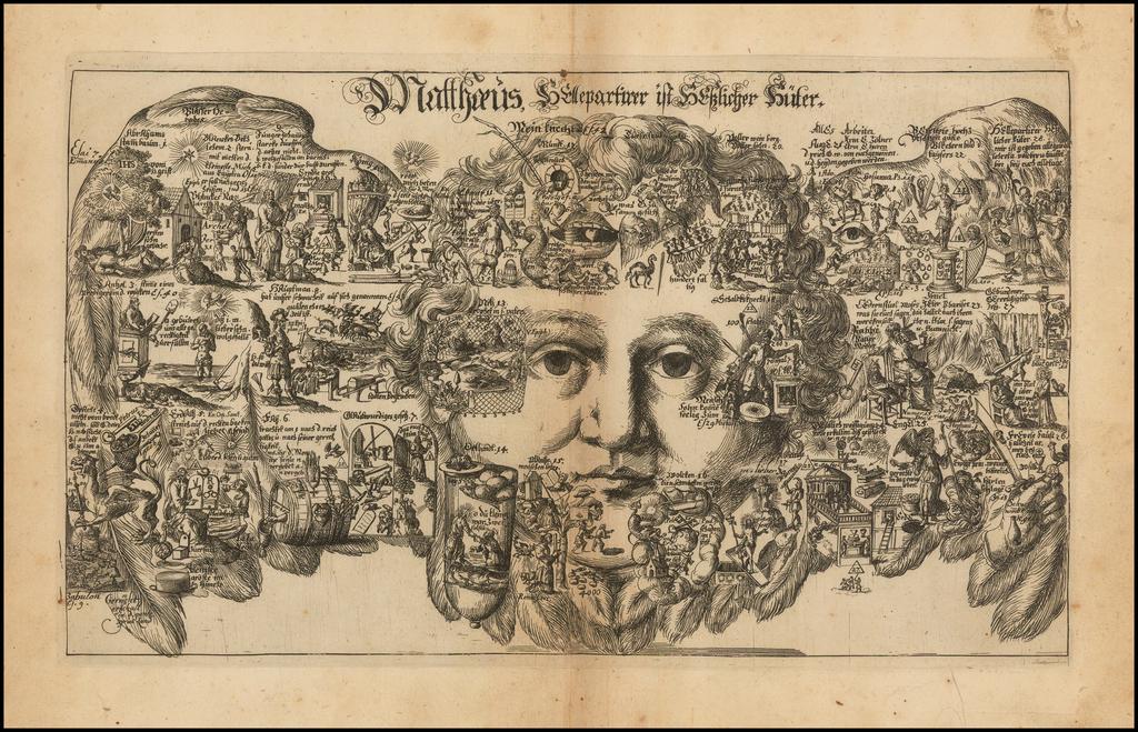 Matthaeus. . . [Allegorical Biblical engraving.] By Johannes Buno