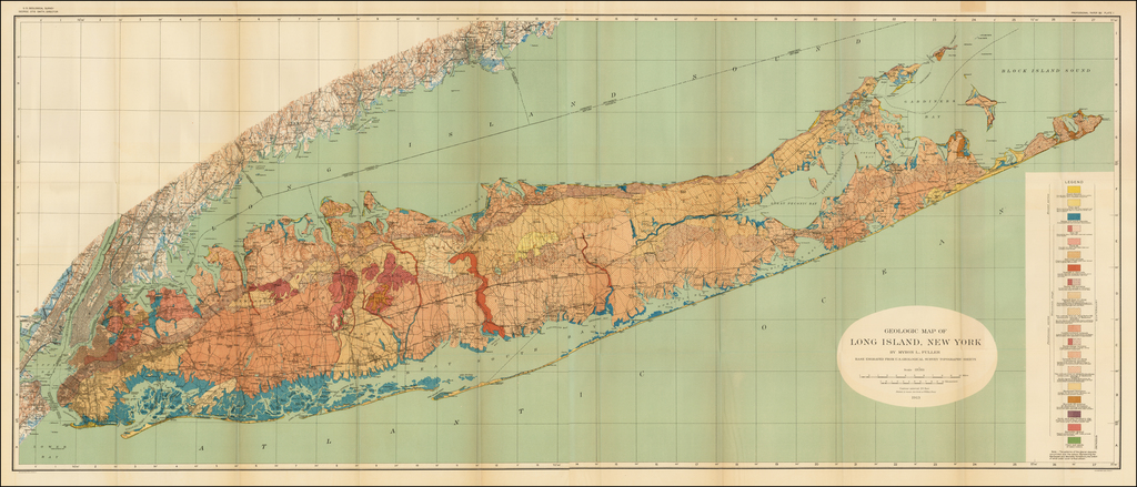 Topographical Map of Long Island, New York Engraved From ...