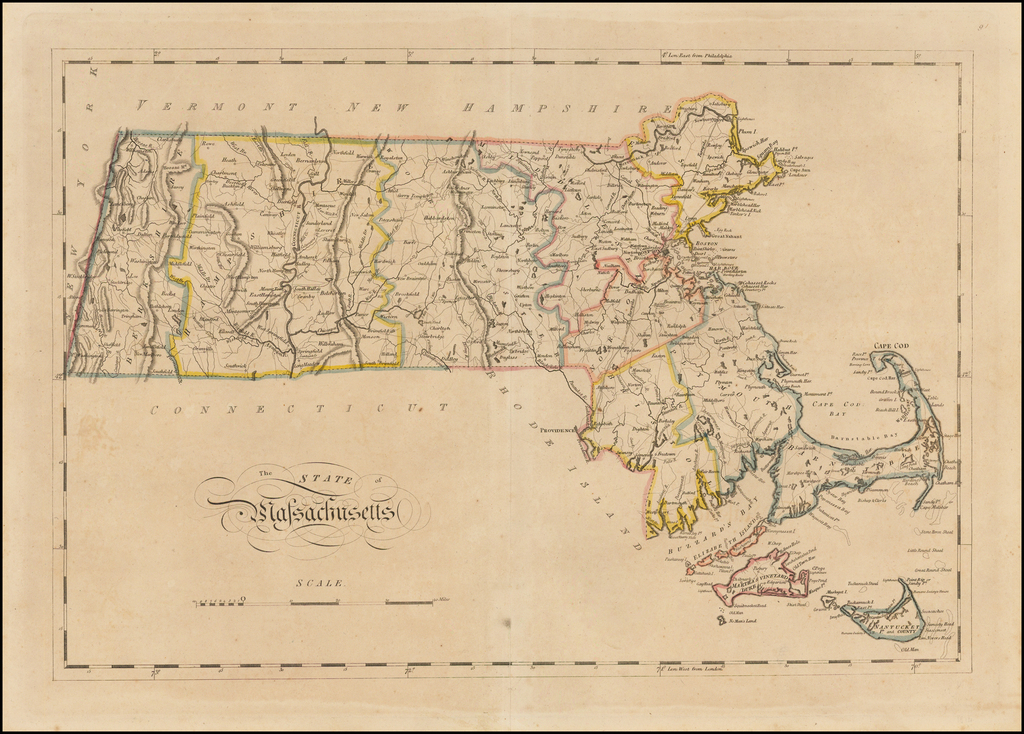 The State of Massachusetts By Mathew Carey