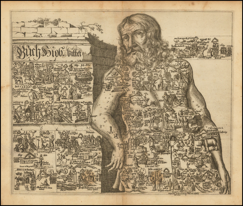 Buch Hiob. bitter. [Allegorical print.] By Johannes Buno