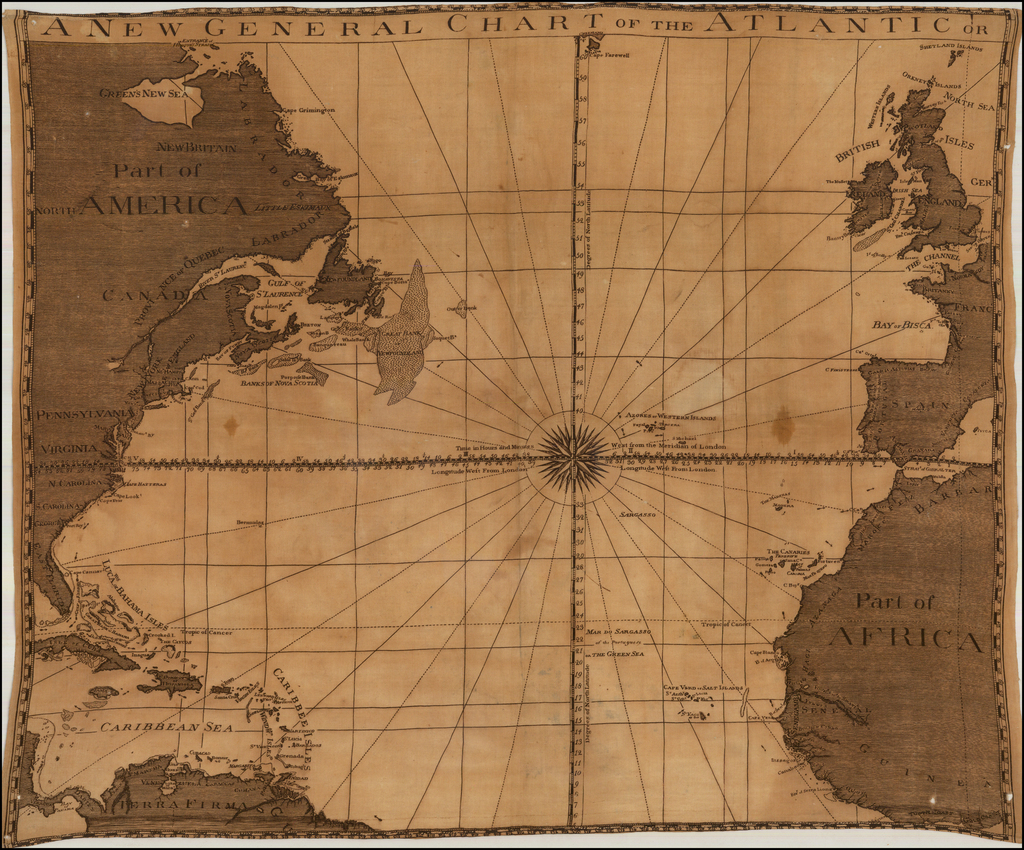 A New General Chart of the Atlantic Or By Anonymous