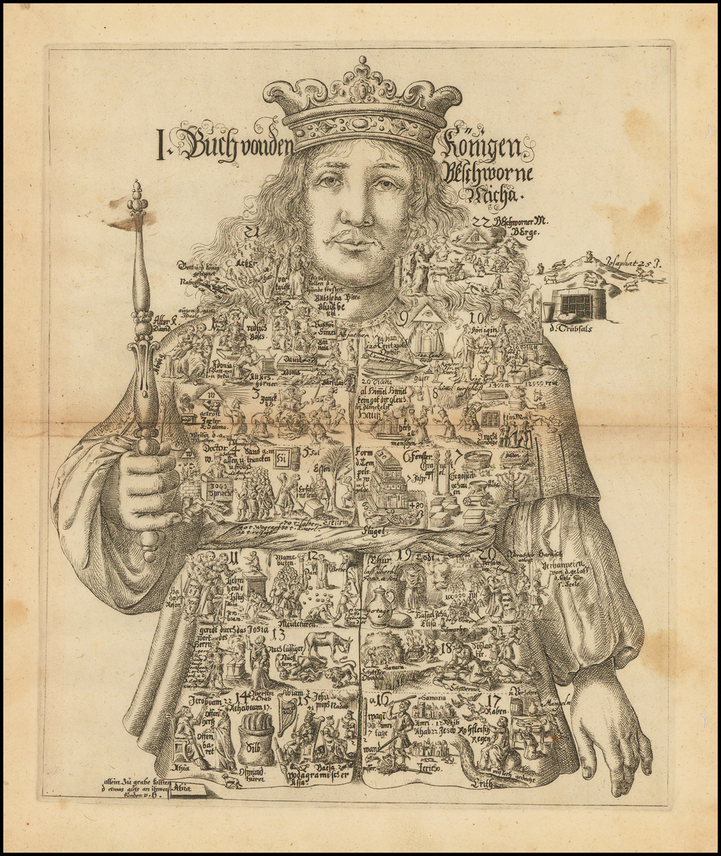 Buch vonden Konigen. . . [Allegorical Biblical print.] By Johannes Buno