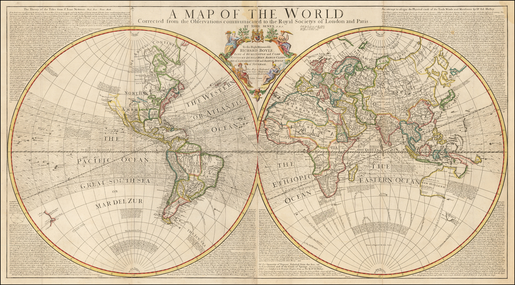 A Map of the World Corrected from the Observations ...