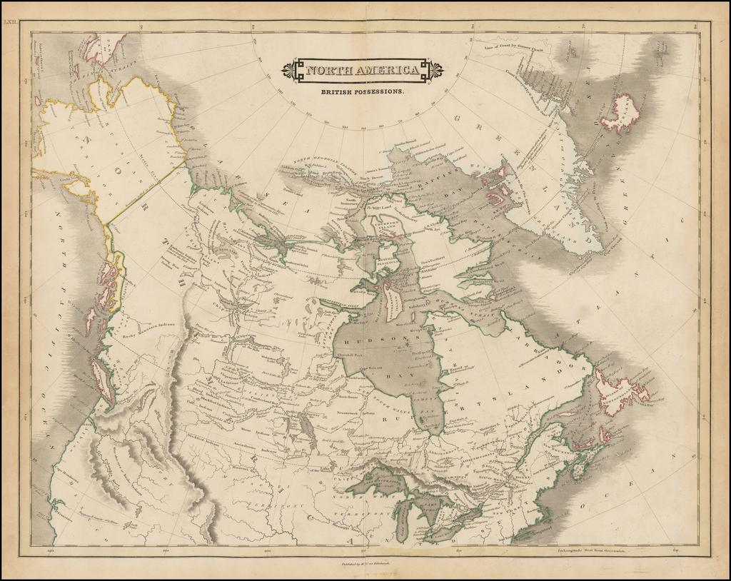 North America British Possessions By Daniel Lizars