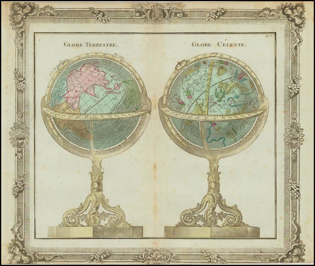 Globe Terrestre [and] Globe Celeste By Louis Brion de la Tour