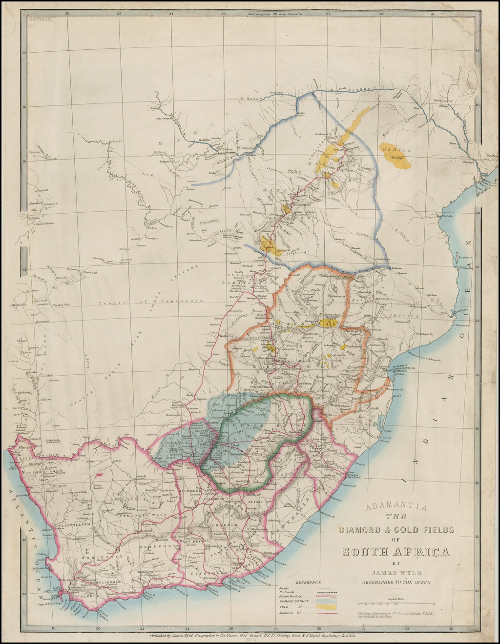 Adamantia The Diamond Gold Fields of South Africa by James Wyld Geographer to the Queen By James Wyld