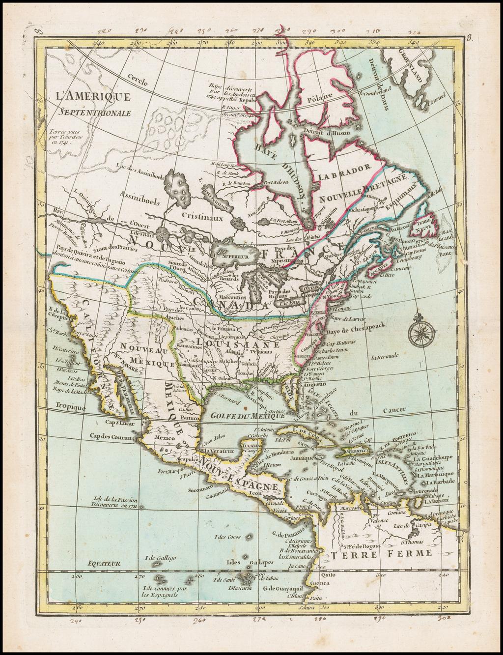 L'Amerique Septentrionale By Georges Louis Le Rouge