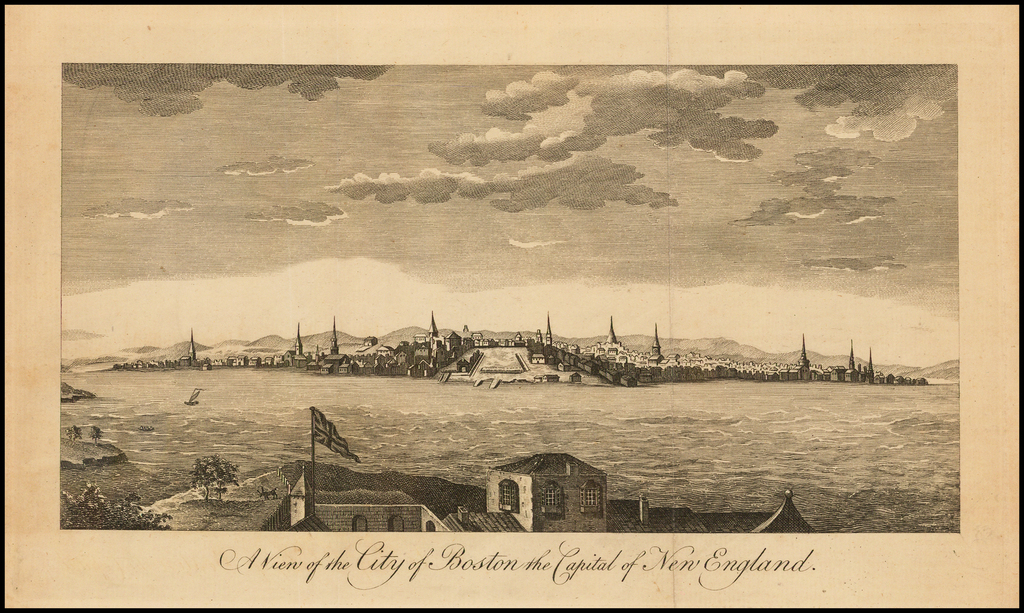 A View of the City of Boston the Capital of New England   By Universal Magazine
