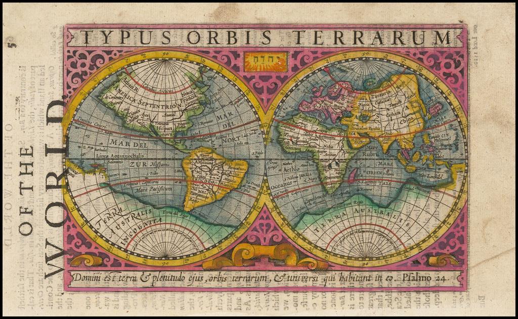 Typus Orbis Terrarum By Jodocus Hondius