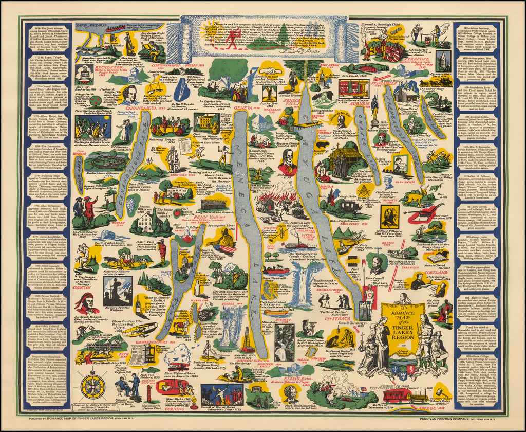 A Romance Map of the Finger Lakes Region . . . - Barry ...