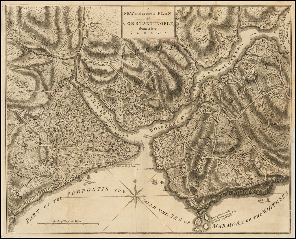A New and accurate Plan of Constantinople from a late Survey By Universal Magazine