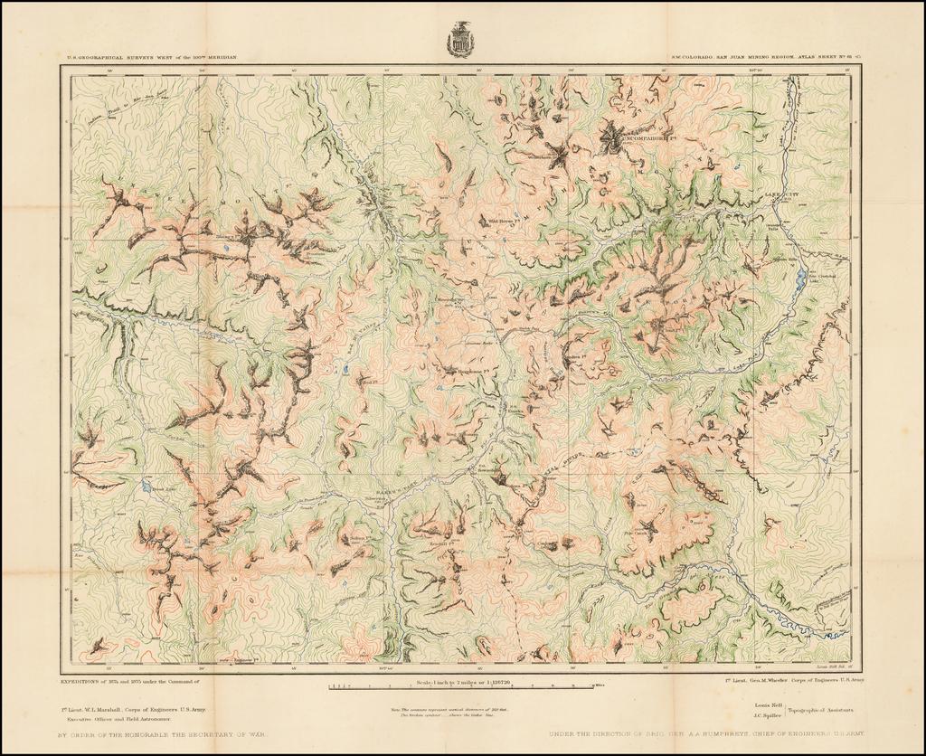 S.W. Colorado. San Juan Mining Region.  Atlas Sheet No. 61 (C) By George M. Wheeler