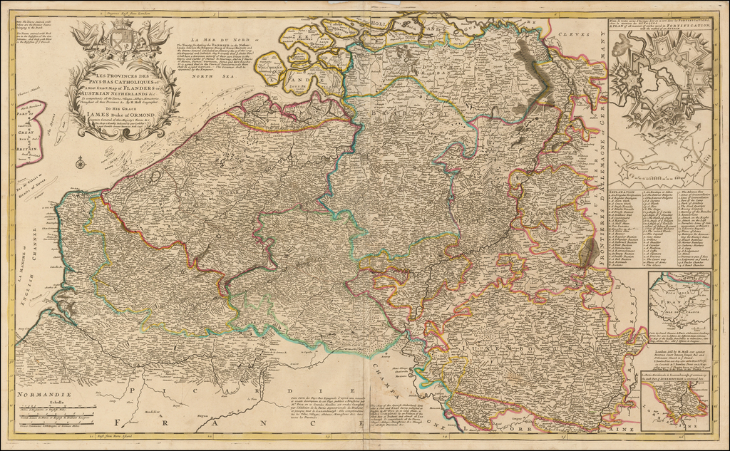 Les Provinces des Pays-Bas Catholiques ou a Most Exact Map of Flanders or ye Austrian Netherlands &c. ... By Herman Moll