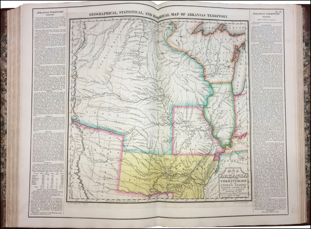 A Complete, Historical, Chronological, and Geographical American Atlas. . . By Henry Charles Carey  &  Isaac Lea