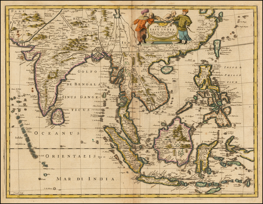 A New Map of East India . . . By John Speed