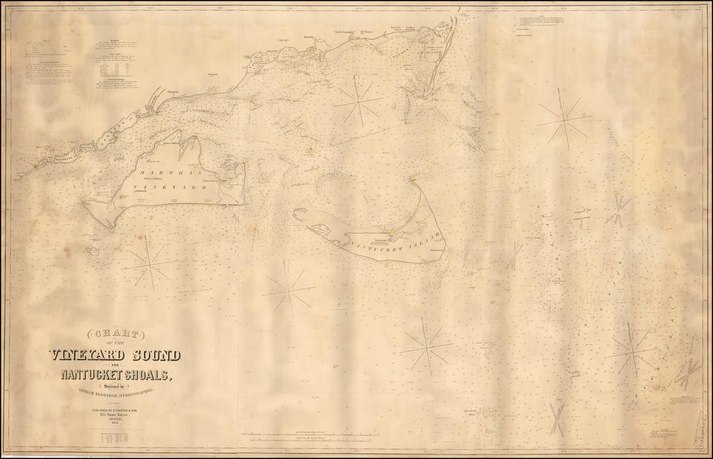 Chart of the Vineyard Sound and Nantucket Shoals, Surveyed by George Eldridge Hydrographer. By George Eldridge