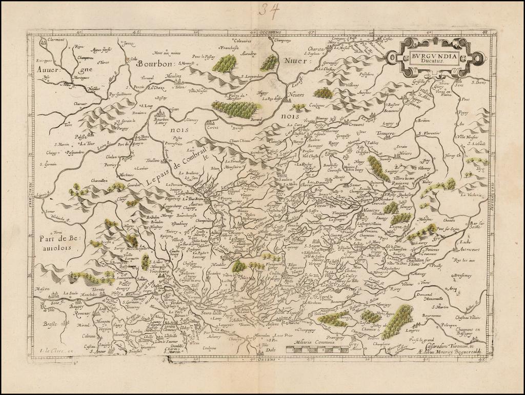 Burgundia Ducatus By Jean Le Clerc / Maurice Bouguereau
