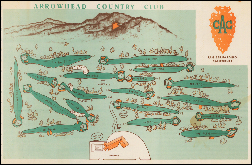 Arrowhead Country Club (Golf Course Map & View) By Anonymous