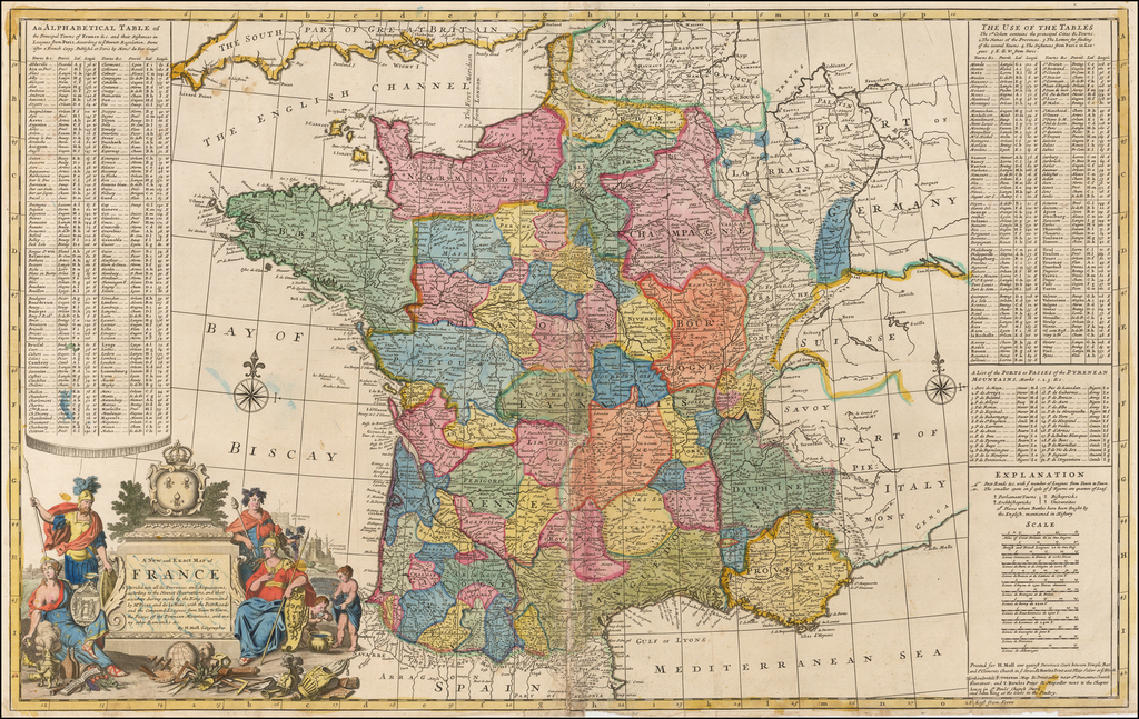 A New and Exact Map of France Dividid into all its Provinces and Acquisitions, according to the Newest Observations . . .  By Herman Moll