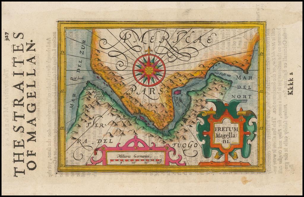 Fretum Magellani By Jodocus Hondius -  Gerard Mercator