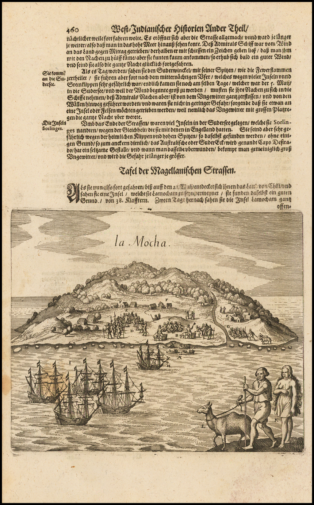 La Mocha (Mocha Island) By Matthaus Merian
