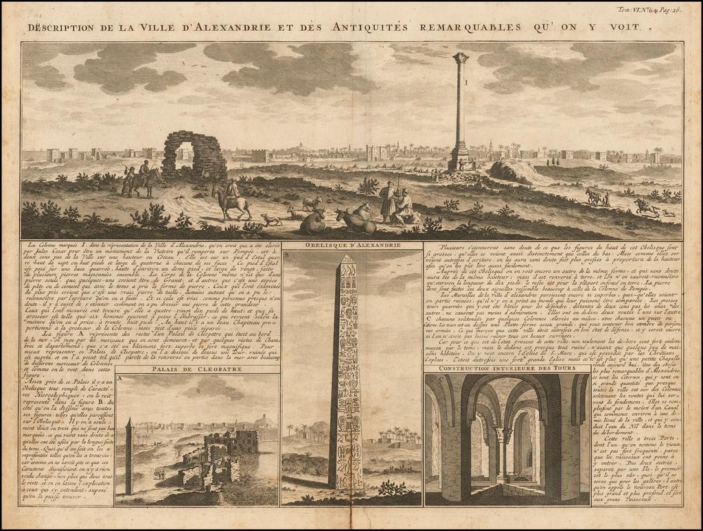 Description de la Ville d'Alexandrie et des Antiquites Remarquables qu'on y voit  By Henri Chatelain