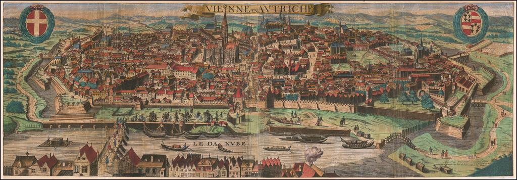 Vienne en Autriche 1669 By Alexis-Hubert Jaillot
