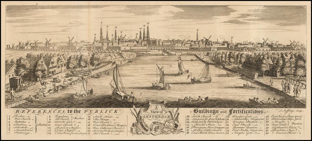 A View of Amsterdam By Thomas Jefferys