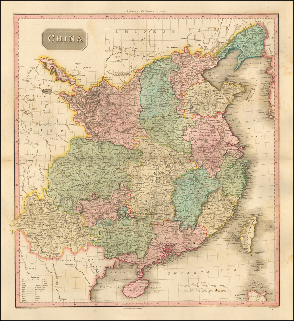 China [shows Formosa] By John Pinkerton