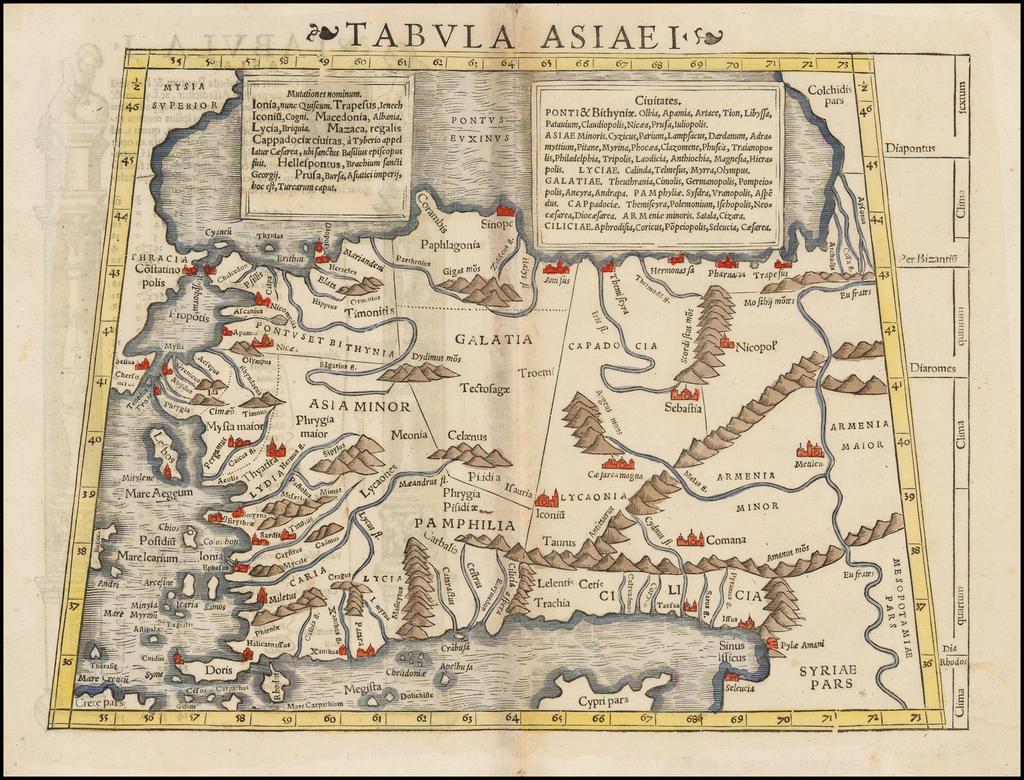 [Asia Minor] Tabula Asiae I By Sebastian Münster