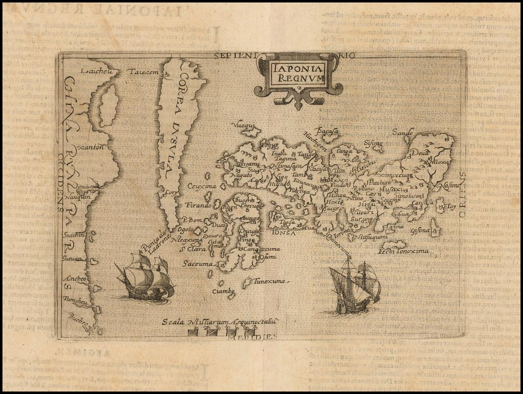 Iaponia Regnum (with the Island of Korea). By Johannes Matalius Metellus