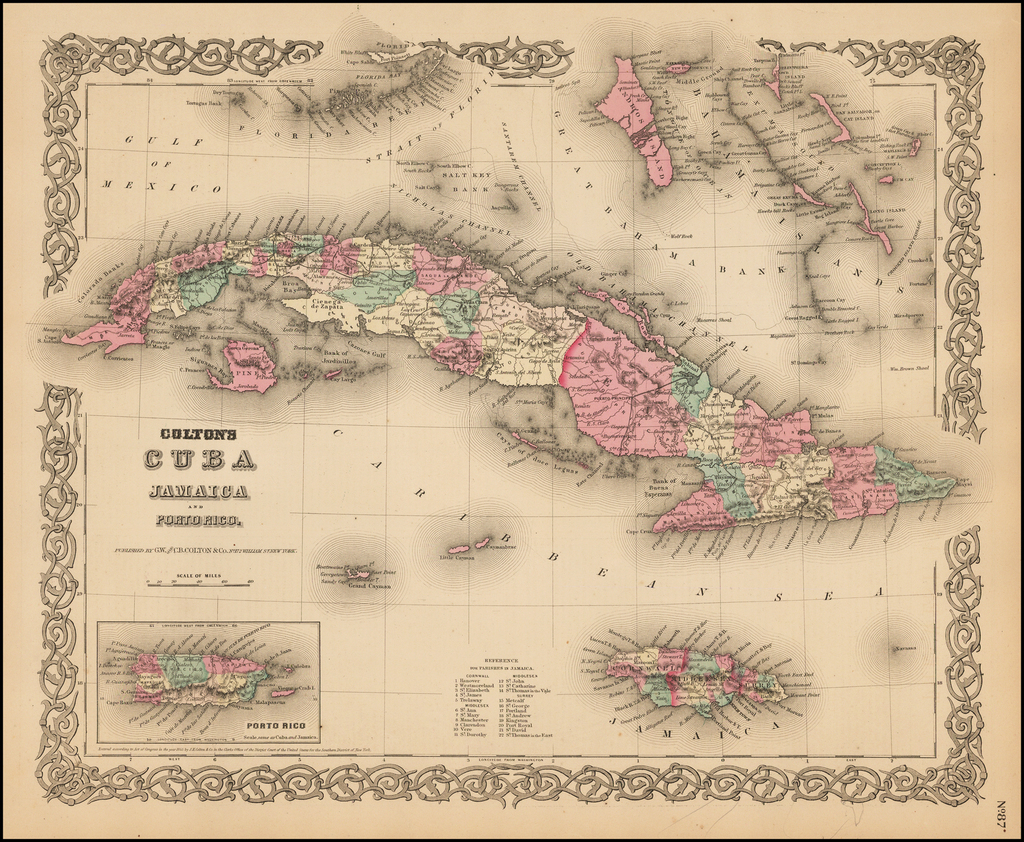 Colton's Cuba, Jamaica and Porto Rico By Joseph Hutchins Colton