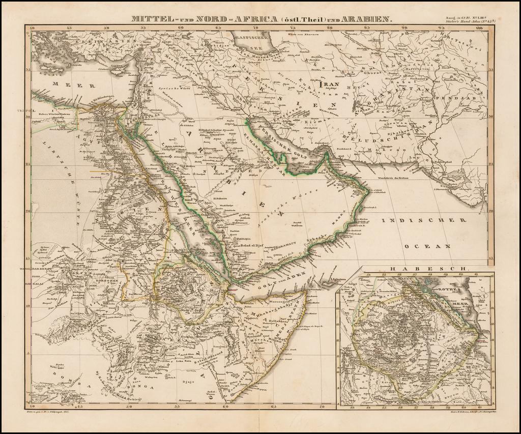 Mittel-und Nord-Africa (ost Theil ) und Arabien By Adolf Stieler