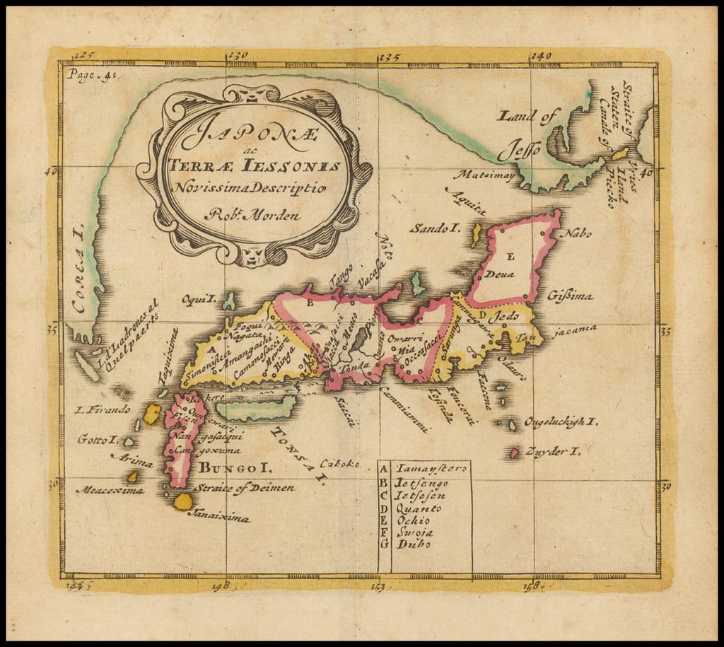 Japonae ac Terrae Iessonis Novissima Descriptio By Robert Morden