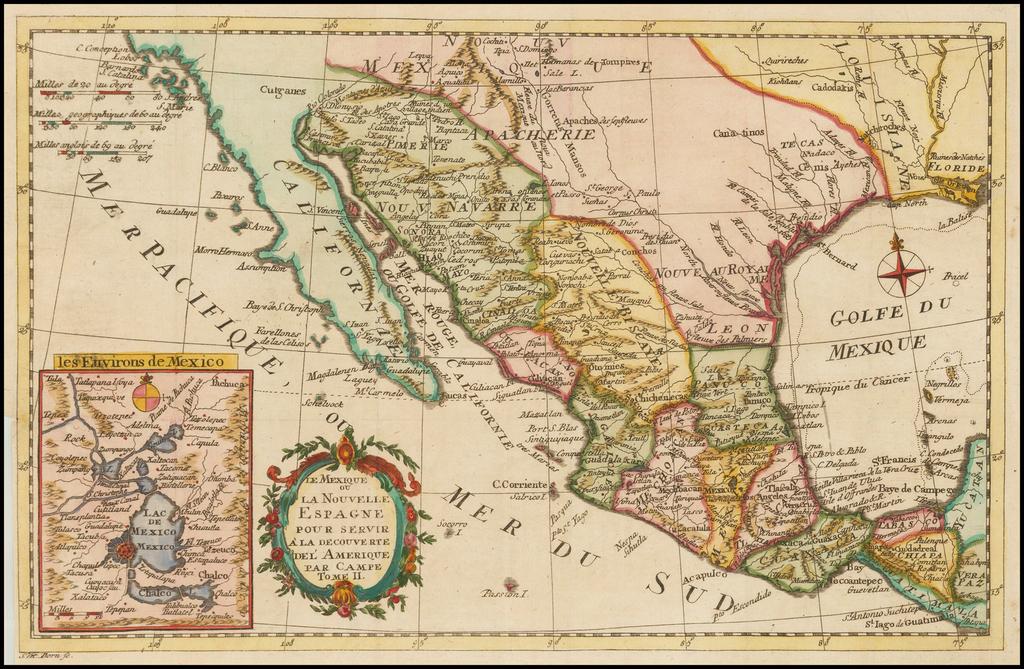 Le Mexique ou La Nouvelle Espagne Pour Servir a la Decouverte de L'Amerique Par Campe Tome II By Campe