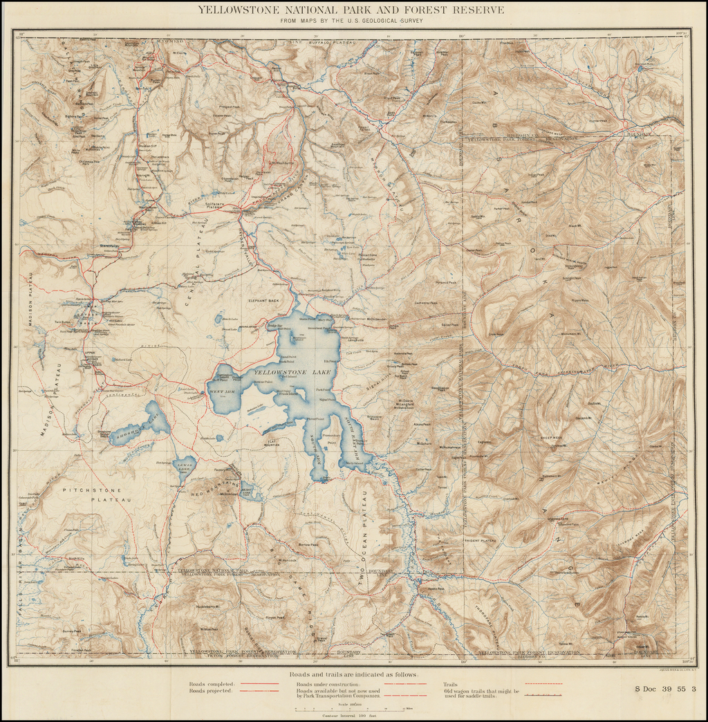 Yellowstone National Park And Forest Reserve From Maps By