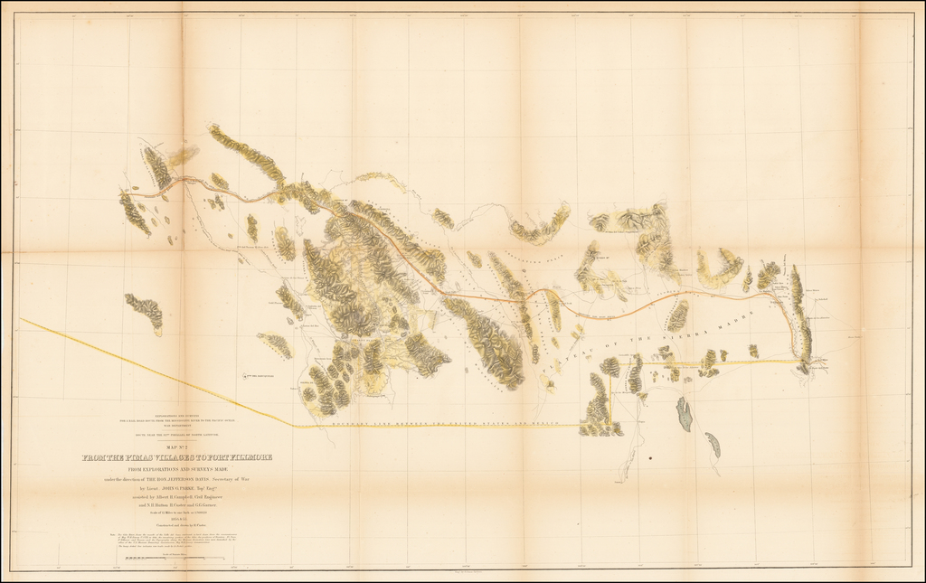 Map No. 2 From the Pimas Villages to Fort Fillmore. By John Parke