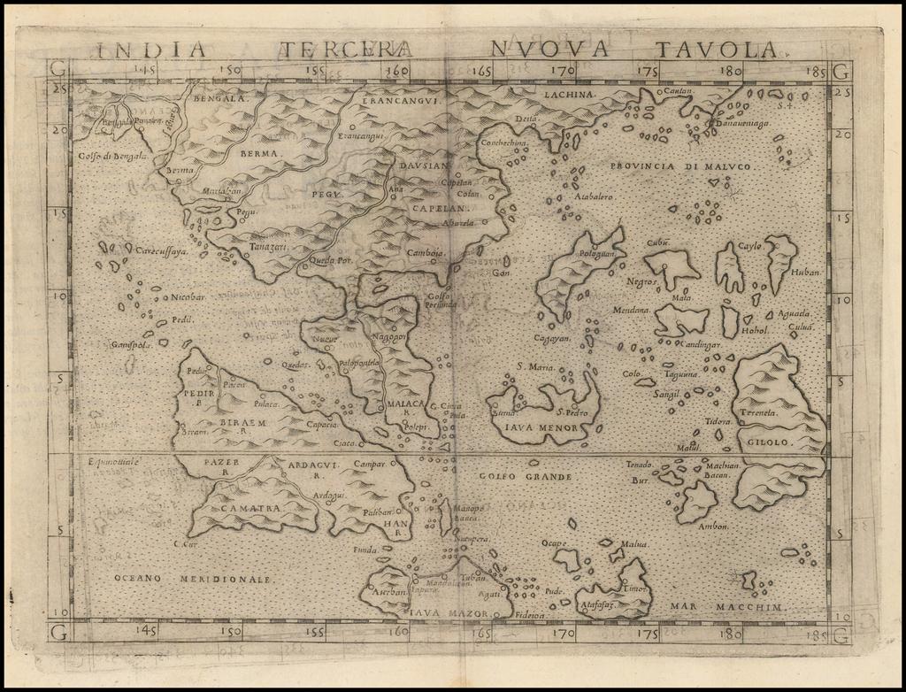 India Tercera Nuova Tavola By Girolamo Ruscelli