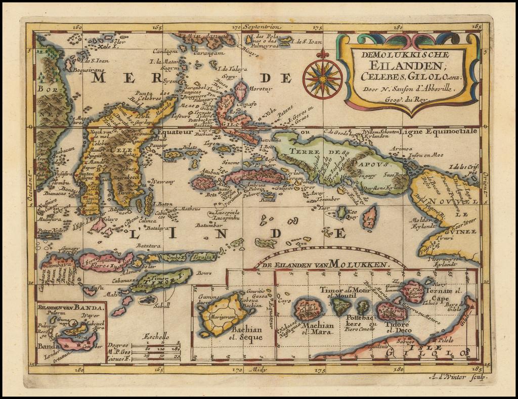 De Molukkische Eilanden; Celebes, Gilolo, enz By Nicolas Sanson