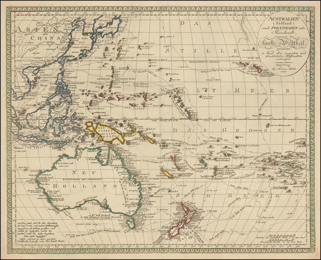 Australien (Sudland) auch Polynesien oder Inselwelt, insgemein der funfte Welltheil  By Johann Walch