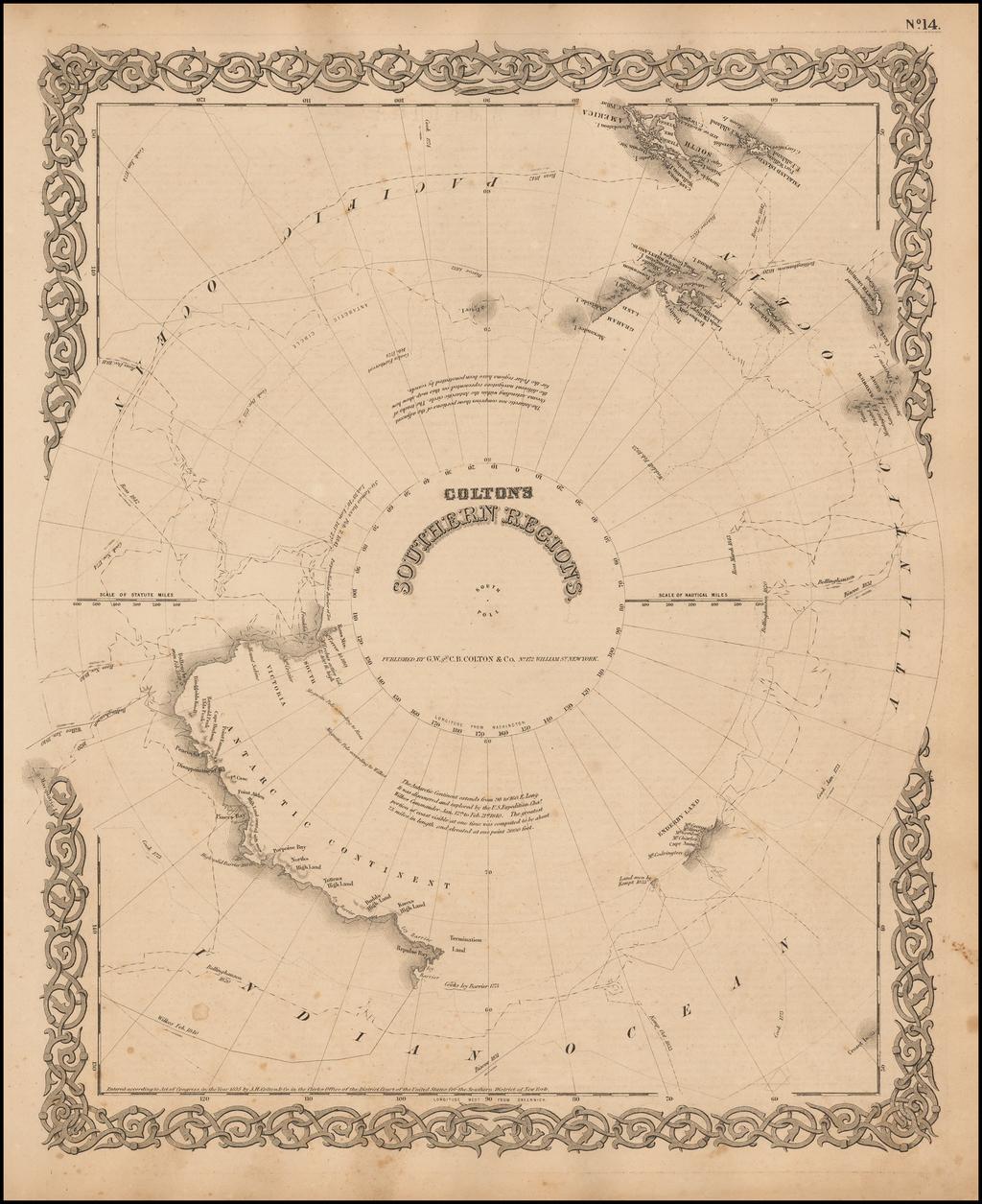 Southern Regions South Pole By G.W.  & C.B. Colton