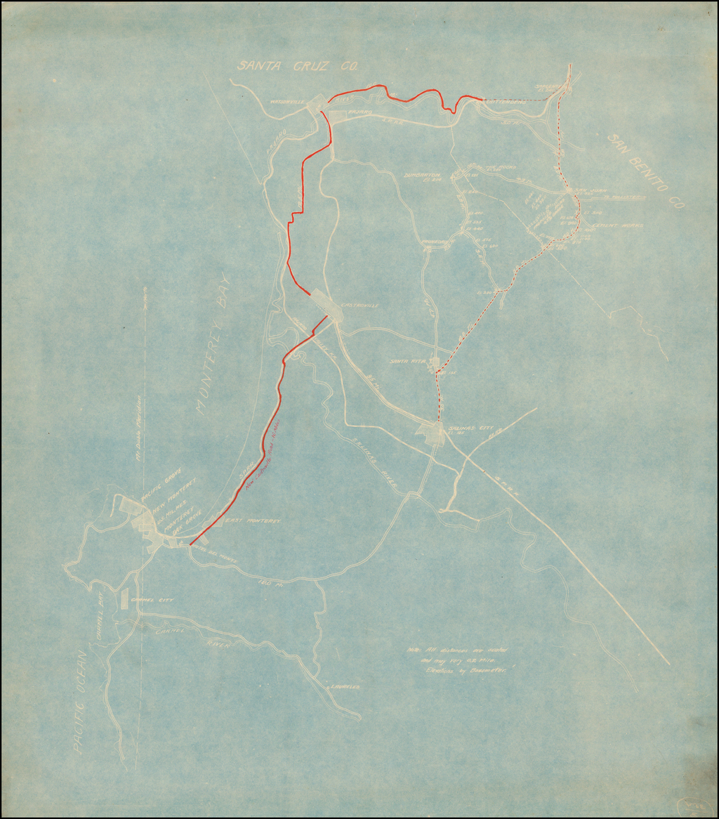 (New Road -- Monterey to Castroville to Watsonville to Sargent) By Anonymous