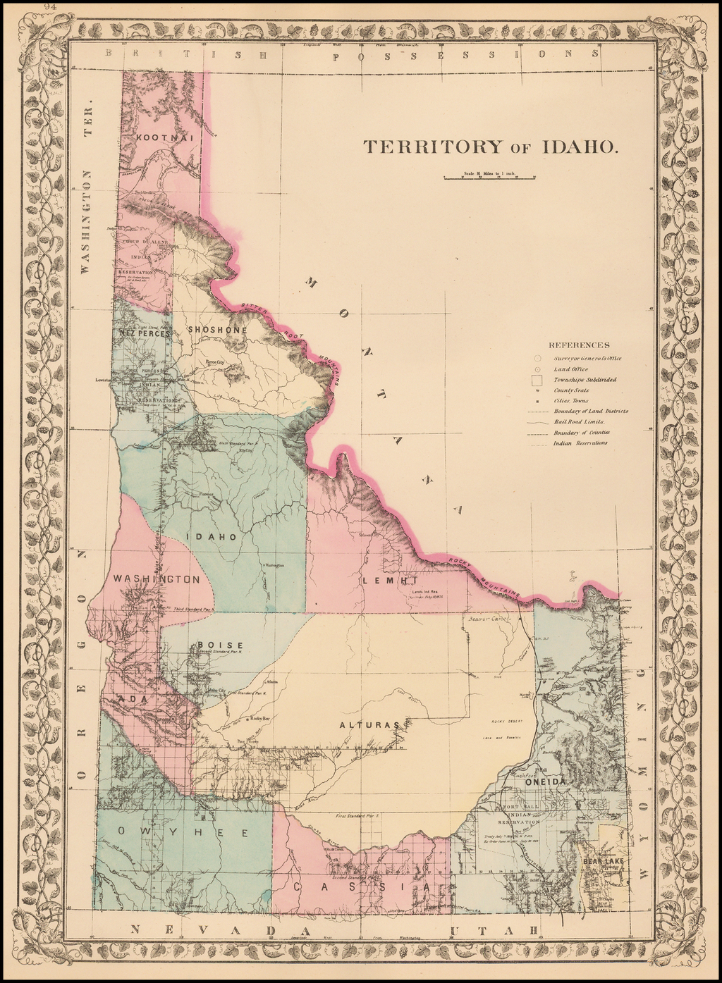Territory of Idaho By Samuel Augustus Mitchell Jr.