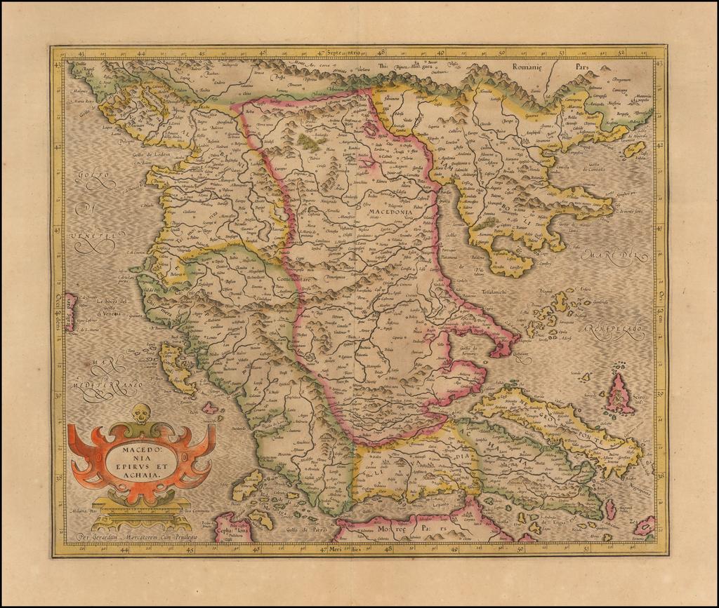 Macedonia Epirus et Achaia By  Gerard Mercator
