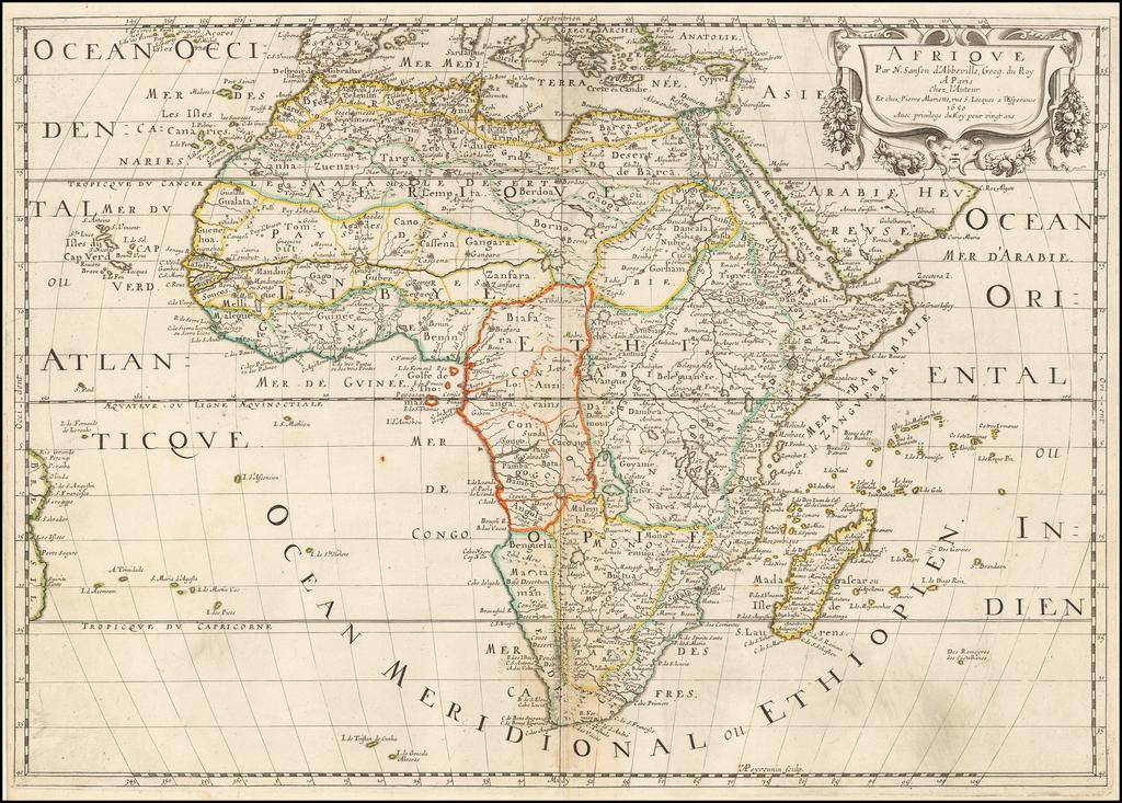 Afrique . . . 1650 By Nicolas Sanson