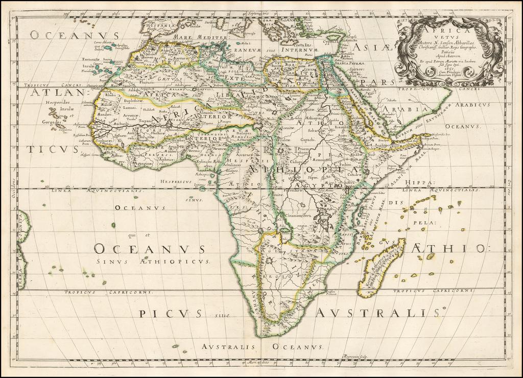 Africa Vetus… 1650 By Nicolas Sanson