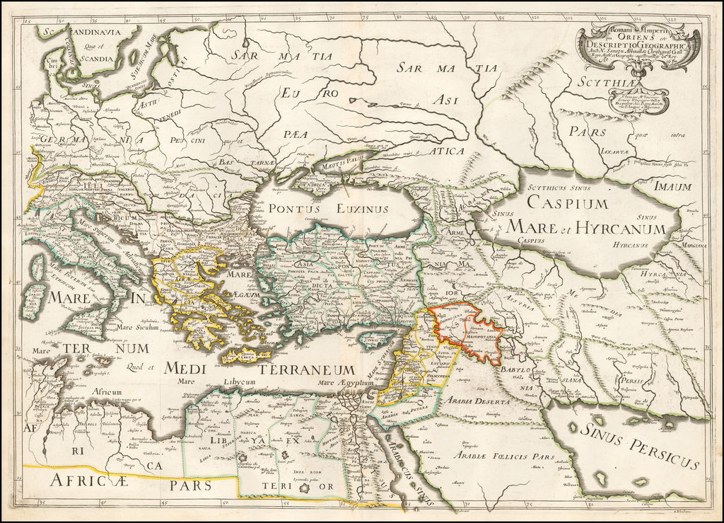 Romani Imperii qua Oriens est Descriptio Geographica . . . 1637 By Melchior Tavernier / Nicolas Sanson