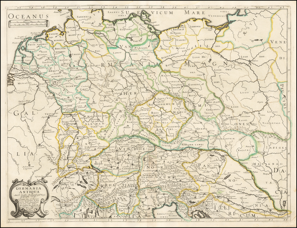 Germania antiqua... 1641 By Melchior Tavernier / Nicolas Sanson